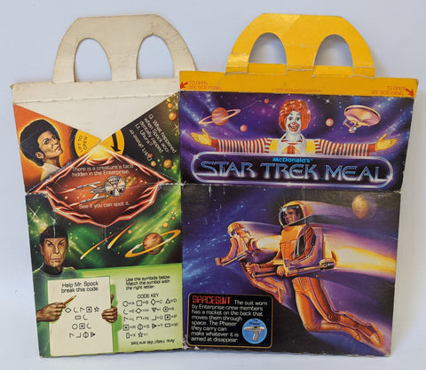 Vintage 1979 Paramount STAR TREK McDonald's HAPPY MEAL Box 'Spacesuit'