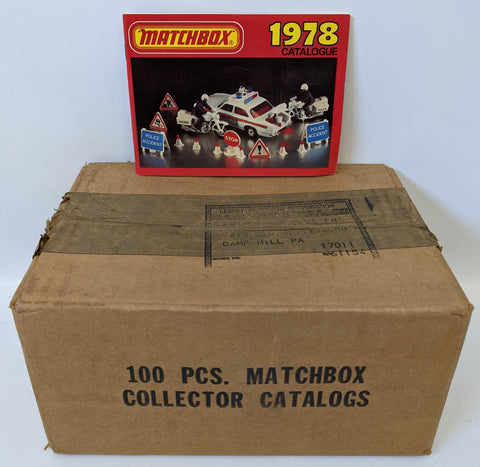 Vintage 1978 MATCHBOX LESNEY Diecast Toy Car Catalog Catalogue SEALED CASE 100!
