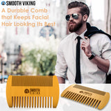 Tan Beard Comb & Brush Set