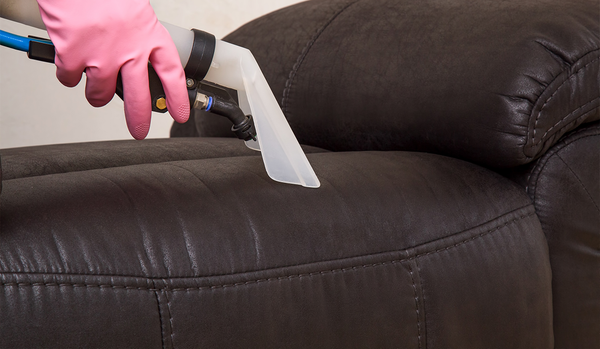 Vacuuming Leather Couch