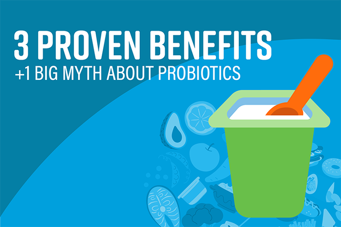 3 Proven Benefits + 1 Big Myth About Probiotics