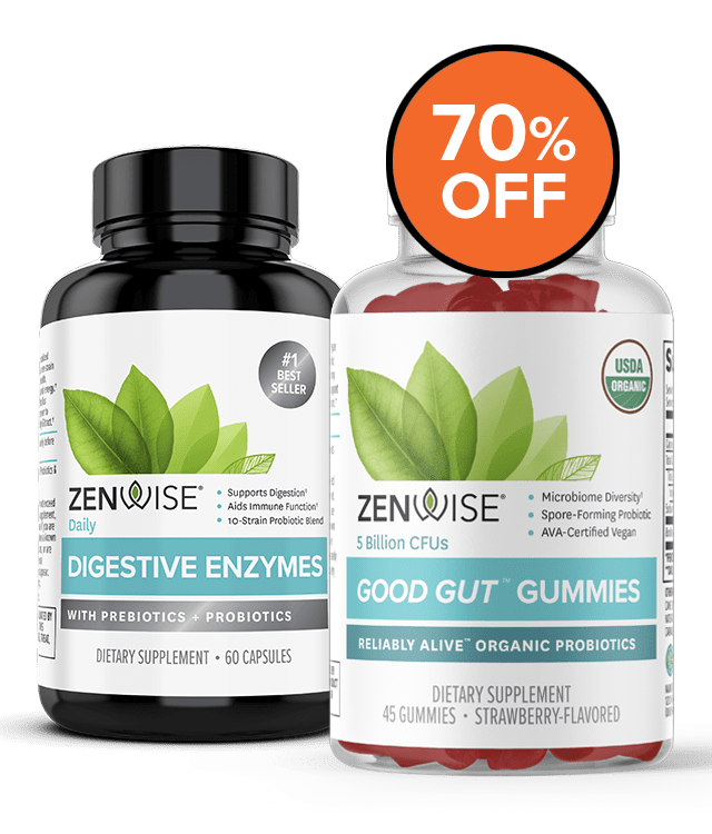 Zenwise Products Digestive Enzymes + Good Gut Gummies