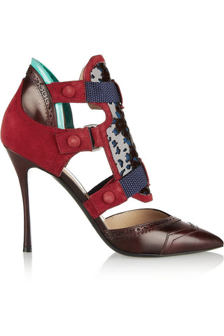 NICHOLAS KIRKWOOD x Peter Pilotto Dark Red Oxford Pumps Shoes $1,190 NEW