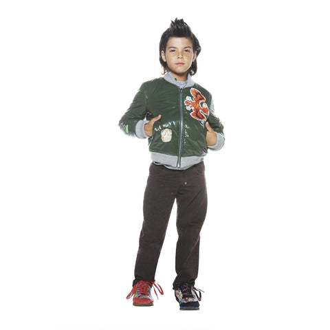 CUSTO BARCELONA Boy's Hariang Green Jacket 4 6 8 10 12 14 $162 NWT