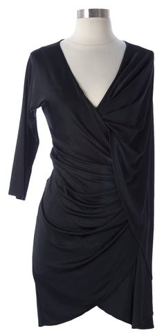 2b.RYCH Women's Black Sequin Adorned Ruched Dress 30188 Sz Extra Small $129 NEW