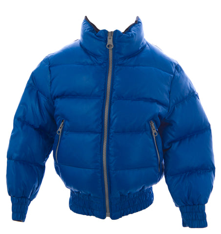 TRE UNO TRE Boy's Brilliant Blue Reversible Down Jacket TDB218 $200 NEW