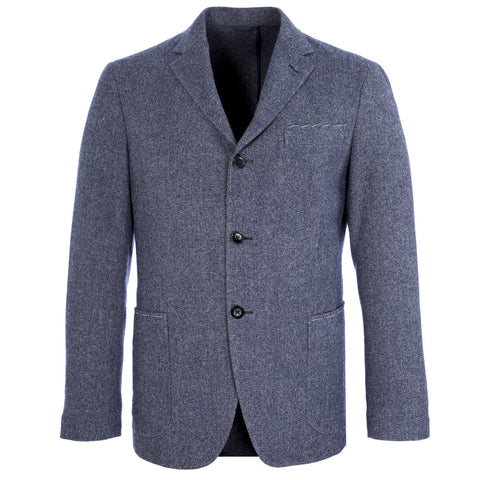 350 Heather Blue Three-Button Single Breasted Blazer 350PT IT Sz 50 $418 NWT