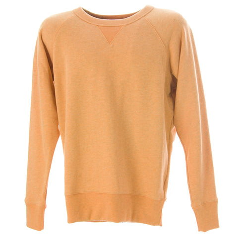 OLASUL Men's Heathered Peach Crewneck Sweatshirt $120 NEW