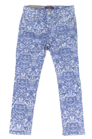 7 for All Mankind Girls Moroccan Jacquard Skinny Legging Jeans 7FFXG2161 $79 NEW