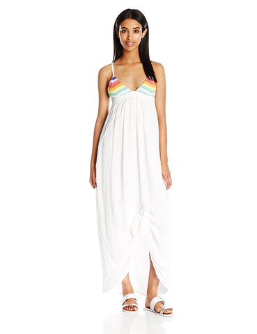 MARA HOFFMAN Prismatic Tie Knot Cover-up Maxi Dress 94920 $275 NEW