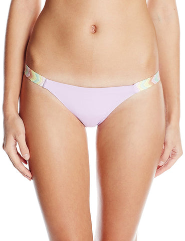 MARA HOFFMAN Lavender Embroidered Side Bikini Bottoms 95570 $141 NEW