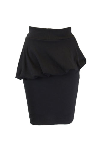 ANALILI Women's Black Peplum Mini Skirt Size X-Small $135 NEW