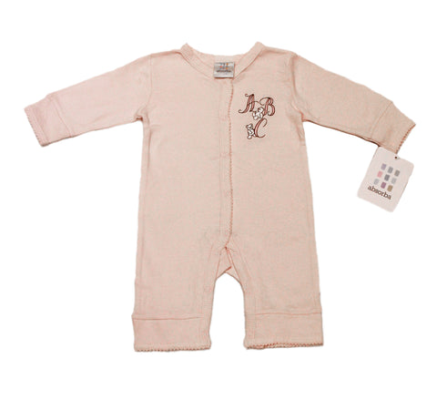 ABSORBA Baby Girls Pink ABC Footless Jumpsuit ATNG5108 NEW