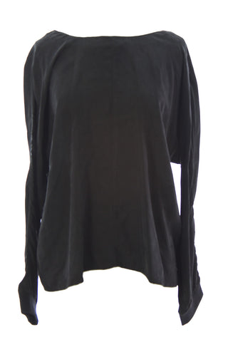 SURFACE TO AIR Women's Black V-Cut Back Ana Blouse Sz 40 $370 NEW
