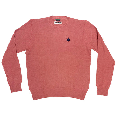 BOAST Men's Pink Solid Crewneck Knit Sweater $145 NEW