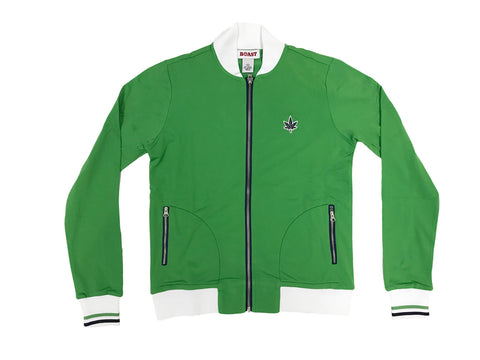 BOAST Women's Classic Green Court Zip-up Track Jacket $125 NEW