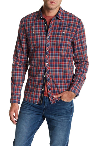 Buffalo David Bitton Men's Lychee Plaid Santon Button-up Shirt BM19474 $69 NEW