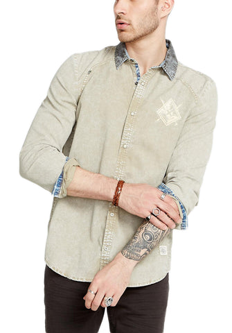 Buffalo David Bitton Men's Rusk Simogen Button-up Shirt BM19480 $69 NEW