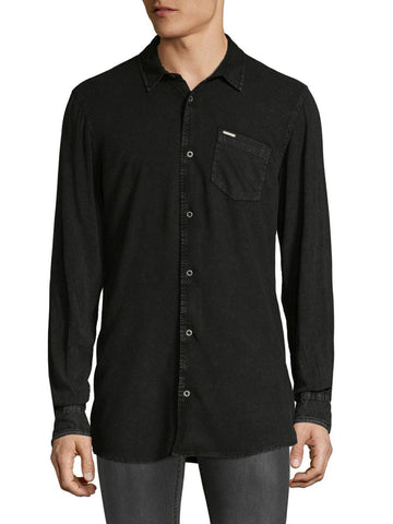 Buffalo David Bitton Men's Charcoal Sisidor Button-up Shirt BM19478 $79 NEW