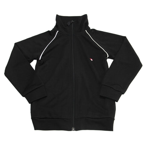 APPAMAN Big Boys' Black Zip Up Track Jacket $60 NWT