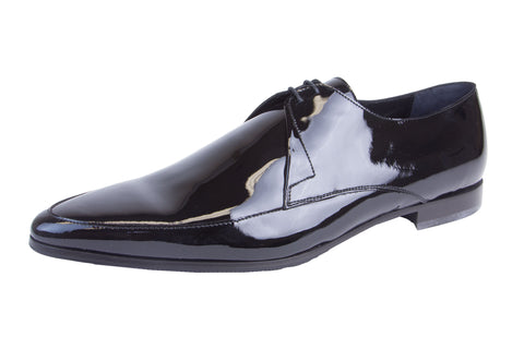 J. LINDEBERG Men's Black Shiny Pointed Dress Shoes Sz 12 $495 NIB