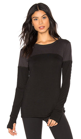 BODY LANGUAGE SPORTSWEAR Women's Black Cara Pullover Top ST224 Small $66 NWT