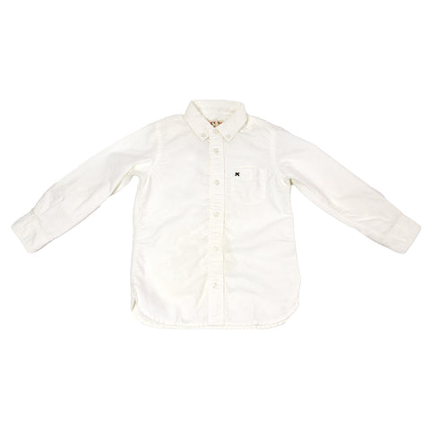 ALEX MILL Boys' White Classic Oxford Shirt P011032B Sz 4 $95 NWT