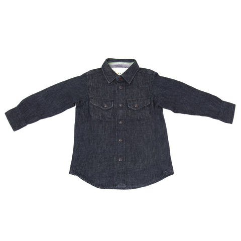 ALEX MILL Little Boys' Indigo Denim Western Shirt H211018B Sz 2 $95 NWT