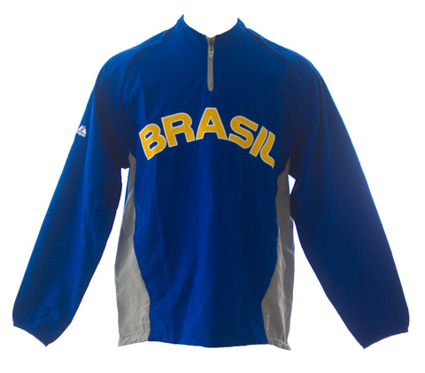 MAJESTIC Mens Blue Brasil World Baseball Classic Windbreaker 1JC1 $120 NEW