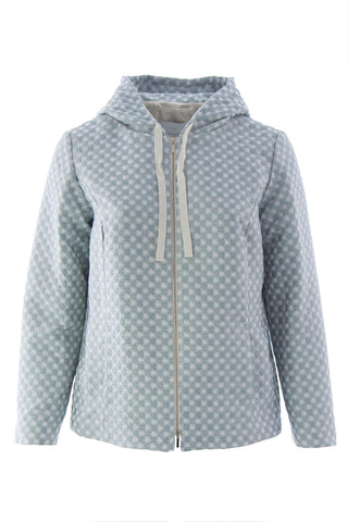 MARINA RINALDI Women's Mint Casale Hooded Jacket $815 NWT