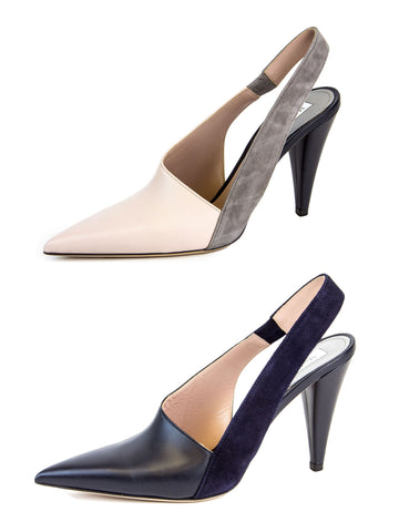 MAX MARA Women's Cresta Leather Slingback Pumps $525 NIB