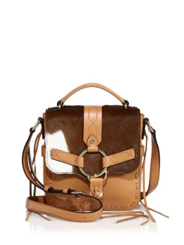 REBECCA MINKOFF Calf Hair Darling Top Handle Crossbody Bag $295 NEW