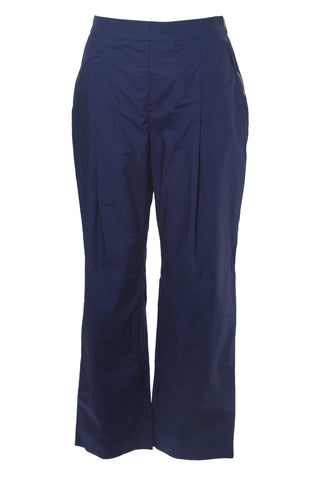MAX&CO. Women's Navy Disgelo Casual Cotton Pants US 6 / IT 42 $195 NWT