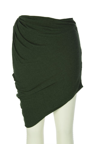 SURFACE TO AIR Women's Bottle Green Drop Skirt $160 NEW