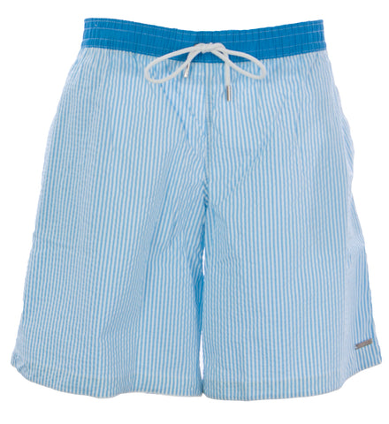 NAILA Men's Blue/White Solid Waist Band Swim Trunks ED121 $110 NEW