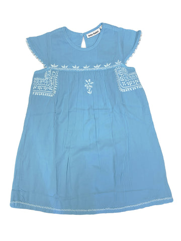 ROBERTA ROLLER RABBIT Girl's Blue Mist/White Eden Dress 10 Years $65 NEW