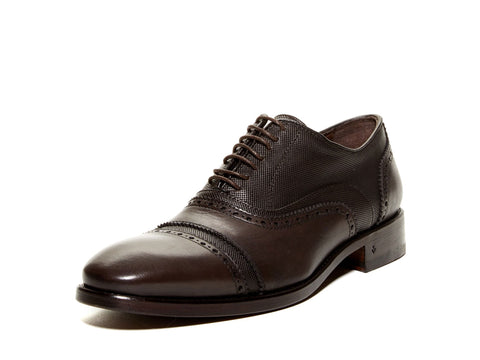 JOHN VARVATOS Men's Espresso Fleetwood Double Bal Oxfords F1970P2 $598 NEW