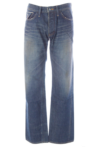 BLUE BLOOD Men's Form MIJ4 Denim Button Fly Jeans MS08D02 $250 NWT