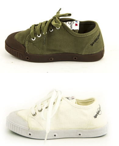 SPRING COURT Little Kid Boys Canvas GE1 Lo Cut Shoes NEW