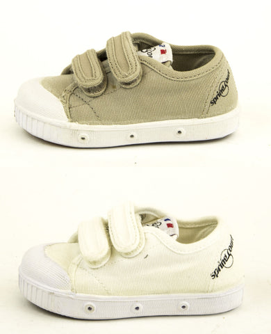 SPRING COURT Toddler Boys Canvas GE1 Hook & Loop Shoes