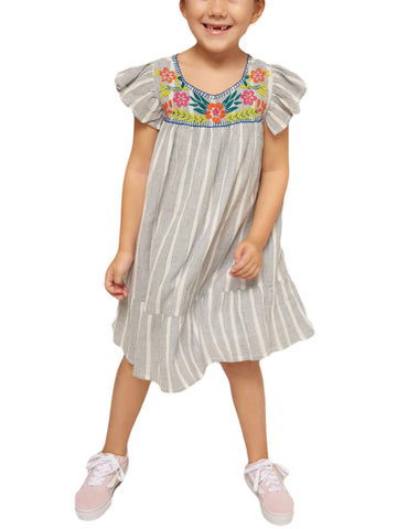 ROBERTA ROLLER RABBIT Little Girls Blue Aimee Dress 2 Years $75 NEW