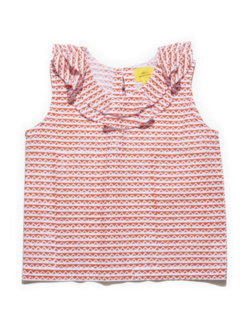 ROBERTA ROLLER RABBIT Girls Orange Alix Elda Top 6 Years $45 NEW