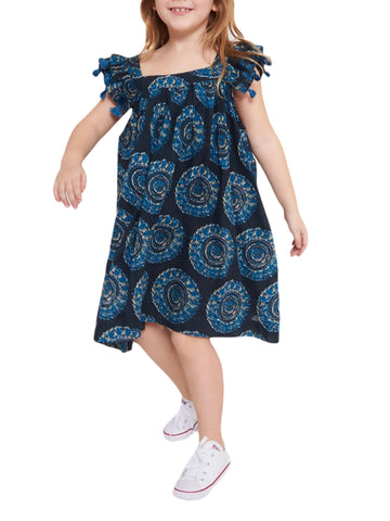 ROBERTA ROLLER RABBIT Little Girls Indigo Ambrose Vickey Dress 2 Years $75 NEW