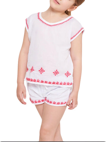 ROBERTA ROLLER RABBIT Girls White & Pink Ellie Set $65 NEW
