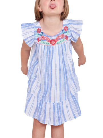 ROBERTA ROLLER RABBIT Girls Blue Montauk Aimee Dress 12 Years $78 NEW