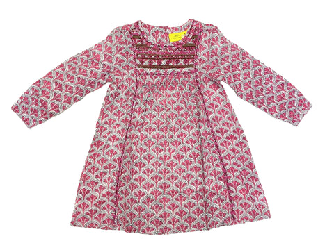 ROBERTA ROLLER RABBIT Little Girl's Pia Sim Emb Dress $75 NEW