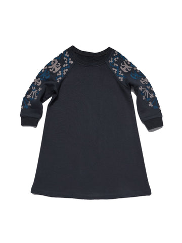ROBERTA ROLLER RABBIT Girls Navy VO Sweatshirt Dress 6 Years $85 NEW