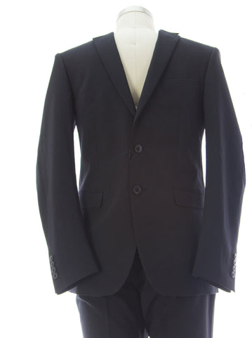 HILDEBRAND Men's Midnight Blue Slim Fit Polyester Suit PO656 IT Sz 46 $272 NEW