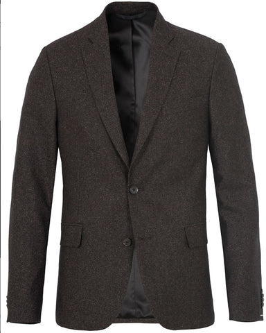 J. LINDEBERG Men's Mud Brown Hopper Soft Silk Tweed Blazer Sz 44 $695 NWT