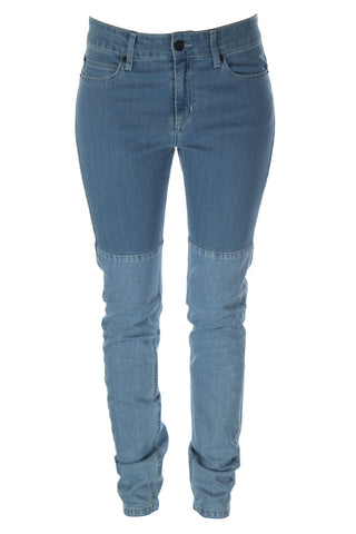 SURFACE TO AIR Women's Lt. Blue Horizontal Super Skinny Jeans $245 NEW